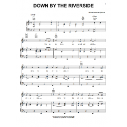Sheet music DOWN BY THE RIVERSIDE