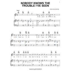 Sheet music NOBODY KNOWS THE TROUBLE I'VE SEEN
