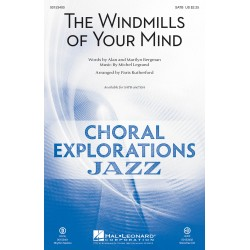 Sheet music THE WINDMILLS OF YOUR MIND (SATB) Michel Legrand