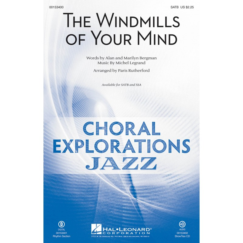 Partition THE WINDMILLS OF YOUR MIND (SATB) Michel Legrand