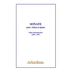 SONATE POUR VIOLON ET PIANO 1996 - 1997