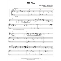 Sheet music MY ALL Mariah Carey