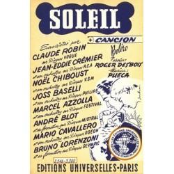 Sheet music SOLEIL Marcel AZZOLA