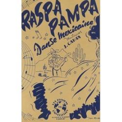 Sheet music RASPA PAMPA Jacques Cahan