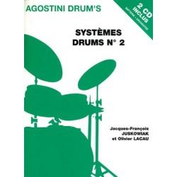 AGOSTINI DRUM'S SYSTÈMES DRUMS VOL.2 Olivier Lacau & Jacques-François Juskowiak