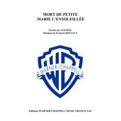 Sheet music MORT DE PETITE MARIE L'ENSOLEILLÉE Antoine