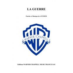 Sheet music LA GUERRE Antoine