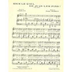 Partition SOUS LE CIEL DE JUAN-LES-PINS
