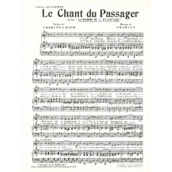 Partition LE CHANT DU PASSAGER