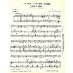 Partition CHANT DES BAISERS (SINGING OF KISSES)