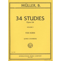 34 STUDIES OPUS 64 VOLUME 1 Bernhard Eduard Müller