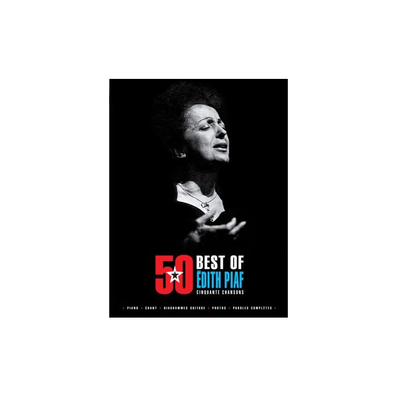 Songbook BEST OF ÉDITH PIAF 50 CHANSONS