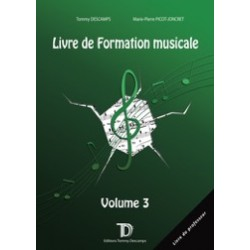 LIVRE DE FORMATION MUSICALE VOL.3 LIVRE DU PROFESSEUR Tommy Descamps