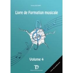 LIVRE DE FORMATION MUSICALE VOL.4 LIVRE DU PROFESSEUR Tommy Descamps