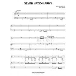 Sheet music SEVEN NATION ARMY The White Stripes