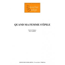 Sheet music QUAND MA FEMME S'ÉPILE Pierre Vassiliu