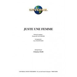 Partition JUSTE UNE FEMME Chimène BADI