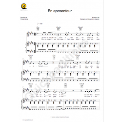Sheet music EN APESANTEUR Calogero