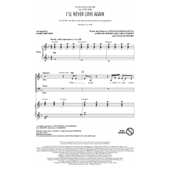 Sheet music I'LL NEVER LOVE AGAIN (SATB) Lady Gaga
