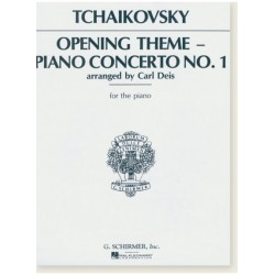 Sheet music OPENING THEME PIANO CONCERTO NO.1 Pyotr Ilyich Tchaikovsky
