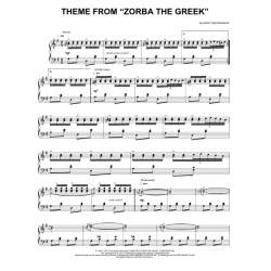 Sheet music THEME FROM ZORBA THE GREEK Mikis Theodorakis