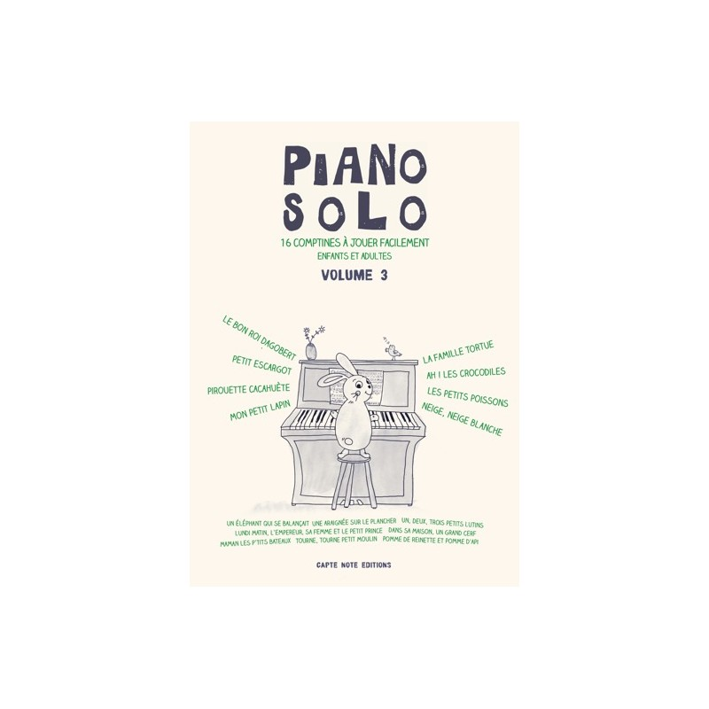 Songbook PIANO SOLO VOLUME 3 Elvire Aucher