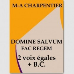 Sheet music DOMINE FAC SALVUM (SA + B. C.)