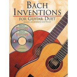 BACH INVENTIONS FOR GUITAR DUET (+CD)