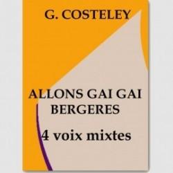 Partition ALLONS GAI GAI BERGERES (SATB)