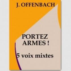 Partition PORTEZ ARMES (SATTB.ORCH)