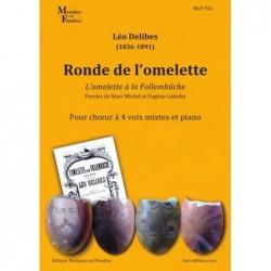 Partition RONDE DE L'OMELETTE (SATB PIANO)