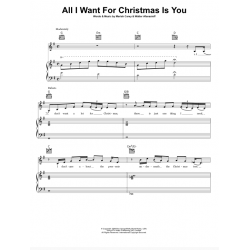 Sheet music ALL I WANT FOR CHRISTMAS IS YOU Mariah Carey