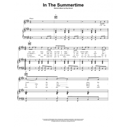 Sheet music IN THE SUMMERTIME Mungo Jerry