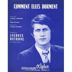 Partition COMMENT ELLES DORMENT Jacques Dutronc