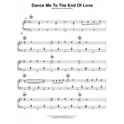 Sheet music DANCE ME TO THE END OF LOVE Leonard Cohen