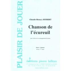 Partition CHANSON DE L'ÉCUREUIL Claude-Henry Joubert