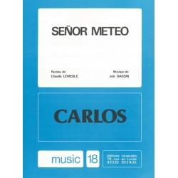 Sheet music SENOR MÉTÉO Carlos