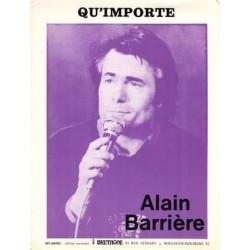 Partition QU'IMPORTE Alain Barrière