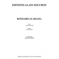 Sheet music RONSARD ALABAMA Alain Souchon