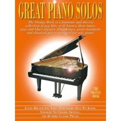 GREAT PIANO SOLOS THE ORANGE BOOK