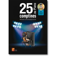 25 COMPTINES AU PIANO (+CD)