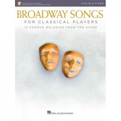 Partition BROADWAY SONGS FOR CLASSICAL PLAYERS - VIOLIN