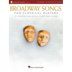 Partition BROADWAY SONGS FOR CLASSICAL PLAYERS - CLARINET