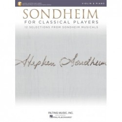 Partition SONDHEIM FOR CLASSICAL PLAYERS - VIOLIN