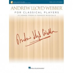 Partition ANDREW LLOYD WEBBER FOR CLASSICAL PLAYERS - CELLO