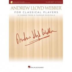 Partition ANDREW LLOYD WEBBER FOR CLASSICAL PLAYERS - CLARINET