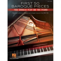 Partition FIRST 50 BAROQUE PIECES YOU SHOULD PLAY ON PIANO