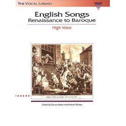 Partition ENGLISH SONGS RENAISSANCE TO BAROQUE - HIGH VOICE