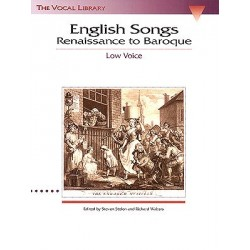 Partition ENGLISH SONGS RENAISSANCE TO BAROQUE - LOW VOICE