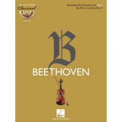 Partition TWO ROMANCES FOR VIOLIN OP. 40 IN G & OP. 50 IN F (+CD)